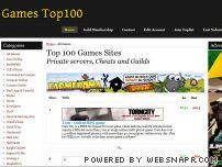 gamesites100.net - Top 100 Games Private servers, Cheats and Guilds