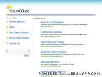raum33.de - Welcome to the Frontpage